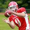 Masco senior wide receiver Gavin Monagle (9) will be a pass catching threat for the Chieftans in 2014. DAVID LE/Staff photo. 8/22/14.