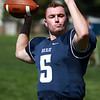 Swampscott High School Senior Quarterback Devin Conroy. DAVID LE/Staff photo. 8/20/14