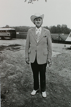 "The Presentation Gallery inside the Walter J. Manninen Center for the Arts at Endicott College will feature a new exhibit, ""Honky Tonk: Portraits of Country Music-Photographs by Henry Horenstein."" One of the photographs from the new exhibit titled: ""Bill Monroe."" DAVID LE/Staff photo. 8/12/14."