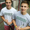 KEN YUSZKUS/Staff photo. Twin brothers and hockey standouts Kyle, left, and Matt Koopman of Marblehead are transferring to the Berkshire School . 8/4/14