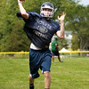 Pingree junior quarterback Griffin Beal will be the signal caller for the Highlanders in 2014. DAVID LE/Staff photo. 8/21/14.