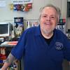 KEN YUSZKUS/Staff photo.    Joe Garuti of Boston Hot Dog Company at his business in Salem.   8/7/15