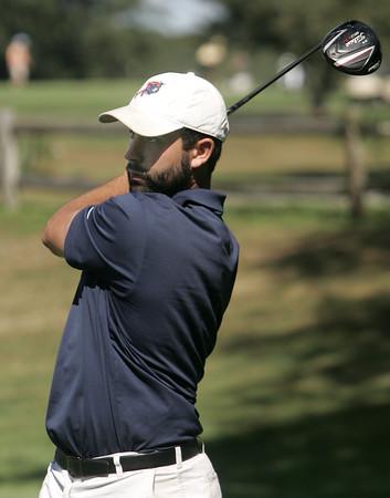 KEN YUSZKUS/Staff photo.  Cameron Moniz of Salem, MA during the North Shore Amateur final round held at the Far Corner Golf Course.   8/12/15