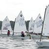KEN YUSZKUS/Staff photo.   Racing in Salem harbor during the 2015 New England Optimist dinghy championships.    8/4/15