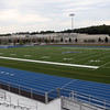 DAVID LE/Staff photo. The brand new stadium and turf field at Danvers High School is being finished up just in time for the fall sports seasons to start. 8/31/16.