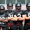 DAVID LE/Staff photo. Marblehead 2016 senior captains Jaason Lopez, Manning Sears, Harry Craig, and Bo Millett will be looking to make a deep playoff run once again in 2016. 8/26/16.