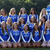 DAVID LE/Staff photo. Danvers High School Varsity Cheerleaders 2016. 8/30/16.