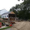 DAVID LE/Staff photo. Construction at the First Church in Wenham has been ongoing. 8/25/16.