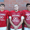 DAVID LE/Staff photo. Masco senior Jeff Saramela, senior Kevin Trottier, and sophomore Nick Mangino. 8/29/16.