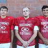 DAVID LE/Staff photo. Masco senior Jeff Saramela, senior Kevin Trottier, and sophomore Nick Mangino. 8/29/16.