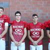 DAVID LE/Staff photo. Masco juniors Patrick Corcoran, Joe Shannon, Cody Amore, and Owen Denn. 8/29/16.