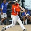 DAVID LE/Staff photo. Beverly slugger Joey Loreti lines a double to left against Lynn. 8/17/16.