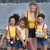 It was quite Misty on the Waterfront as many folks, dressed up as the character Misty made the Pokemon Go trek! (l-r) Kayla Lynch 8, Colbie Buck 8, Abbey Wells (of Beverly) and Kellsey Lynch 8 (they are from Andover).<br /> <br /> Photo by JoeBrownPhotos.com