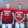 DAVID LE/Staff photo. Masco senior captains Paul Baker, Tony Taggert, Sean Evaul, and Declan Judge. 8/29/16.