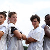 DAVID LE/Staff photo. 2016 Beverly football captains are seniors Kyle Chouinard, Kevin Flaherty, Sam Abate, and Hugh Calice. 8/26/16.
