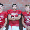 DAVID LE/Staff photo. Masco football junior Dash Crevoiserat, and seniors Liam Whelan and Will Hanson. 8/29/16.