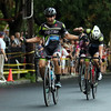 DAVID LE/Staff photo. Men's Elite rider Sam Rosenholtz pumps his fists in celebration after winning the annual Witches Cup on Wednesday evening. 8/10/16.