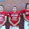 DAVID LE/Staff photo. Masco football seniors Jason Slattery, Tim Beliveau, and Josh Anderson. 8/29/16.
