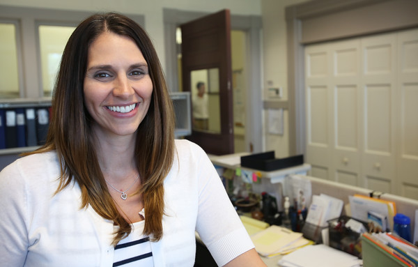 KEN YUSZKUS/Staff photo    Kate Green is the new Danvers Town Hall Director of Human Resources.  08/15/16