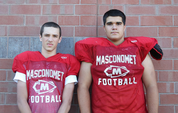 DAVID LE/Staff photo. Masco juniors Jared Ramsay and Matt McGaunn. 8/29/16.