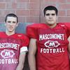 DAVID LE/Staff photo. Masco juniors Jared Ramsay and Matt McGaunn. 8/29/16.