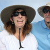 KEN YUSZKUS/Staff photo.  Tourists from Florida, Nancy and Maurice Halpin, ride the  Salem Ferry from Boston to Salem.   08/03/16
