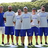 DAVID LE/Staff photo. Danvers head coach Shawn Theriault, center, is entering his third season at the helm of the Falcons program. 8/30/16.