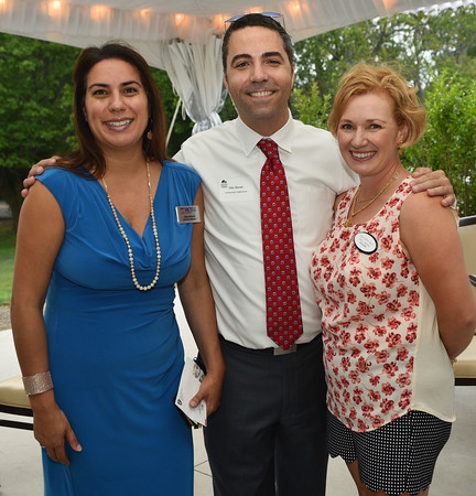 Women in Biusiness Meeting at Tedesco CC - (l-r) Diana Moreno Metro Credit Union, Dan Sousa Community Credit Union, and Erin Calvo-Bacci the Lynn Area Chamber of Commerce Secretary.<br /> <br /> Photo by JoeBrownPhotos.com