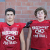 DAVID LE/Staff photo. Masco football juniors Sam Thieo and Matt Brockelman. 8/29/16.