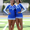 DAVID LE/Staff photo. Danvers High School senior cheerleader captains Megan Walters and Haley McStay. 8/30/16.