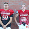 DAVID LE/Staff photo. Masco football seniors Justin Bogart and Matteo Napolitano. 8/29/16.