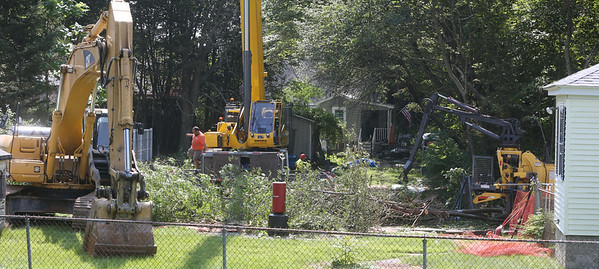 Cutting trees near Brown Pond