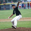 HADLEY GREEN/Staff photo<br /> Lynn's Yordy Contreras (1) pitches at the Peabody v. Lynn Gallant baseball championship game at the Harry Ball Field in Beverly. 8/15/17