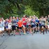 HADLEY GREEN/Staff photo<br /> Runners sprint from the start line at the outset of the Beverly Homecoming Road Race at Lynch Park. 8/03/17