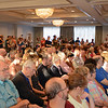 RYAN HUTTON/ Staff photo<br /> The crowd packs into the ballroom at the Salem Waterfront Hotel for the city council at-large debate put on by the Salem News and Salem Chamber of Commerce on Tuesday.