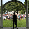 HADLEY GREEN/Staff photo<br /> More than one hundred community members attended the Rally for Love on Beverly Common, which was planned by high school student Eliza Michaels as a counter protest to the Free Speech Rally in Boston. Mayor Mike Cahill spoke to attendees and affirmed Beverly's commitment to stand up against neo-Nazis and white supremacist ideologies.  8/18/17
