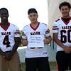 HADLEY GREEN/Staff photo<br /> Chris Ngarambe, Camrin Pagliaro, Martin Tavera<br /> <br /> Salem High Football Mugshots. 08/30/17