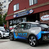 HADLEY GREEN/Staff photo<br /> Peabody Police Department has received two new electric patrol cars from BMW. <br /> <br /> 08/29/17