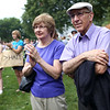 HADLEY GREEN/Staff photo<br /> Sue and Dick Michaels, Eliza Michael's grandparents, attended their granddaughter's event on Beverly Common. 8/18/17