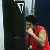 KEN YUSZKUS/Staff photo. Salem High boxer Charles Espinal practices in the school gym.  12/17/14