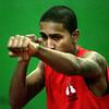 KEN YUSZKUS/Staff photo. Salem High boxer Jhonny Portes practices in the school gym.  12/17/14