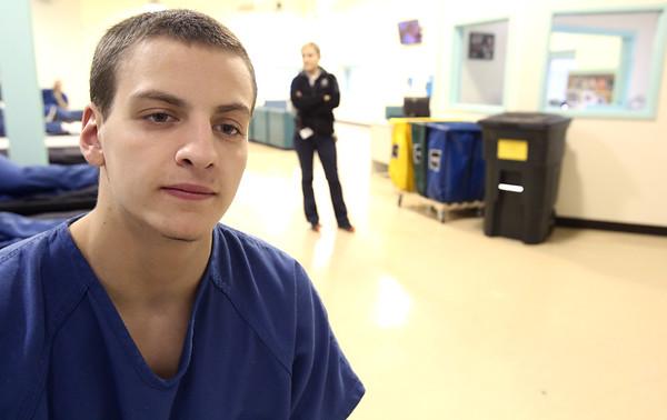 KEN YUSZKUS/Staff photo.   Inmate Nik Mellett is a participant at the new detox treatment center at Middleton jail.     12/23/15.