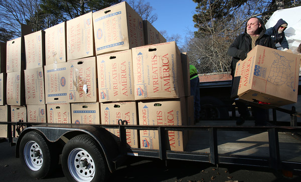 A truck from Wreaths Across America delivered wreaths to Greenlawn Cemetery in Salem