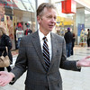 Jon Hurst, the president of the Retailer's Association of Massachusetts speaks about sales during the holiday season while at the Northshore Mall.