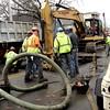 Water main break on North Street in Salem near the Peabody line.
