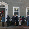 SAM GORESH/Staff photo. People wait in line to tour the Perley Putnam House during the Christmas in Salem House Tour. 12/4/16