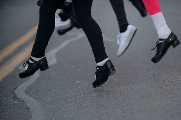 Students from the Kenny Academy of Irish Dance perform at Beverly's New Year's celebration on Cabot Street. 12/30/16