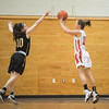 SAM GORESH/Staff photo. Masconomet against Bishop Fenwick in the final game of the Masconomet Girls Basketball Holiday Invitational. 12/29/16
