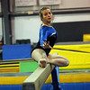 HADLEY GREEN/Staff photo<br /> Captain Nathania Brachanow warms up on the beam at the Danvers High School gymnastics team practice.<br /> <br /> 12/23/17