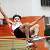 HADLEY GREEN/Staff photo<br /> Salem's Bryan Palacios competes in high jump at the track meet at Beverly High School.